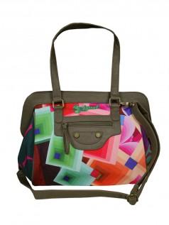 Handtaschen - Desigual Damen Handtasche Maletina Romboide (grün)  - Onlineshop Brandlots