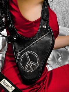 Schultertaschen - Punani Revolverbag Strass Tasche Peace  - Onlineshop Brandlots