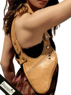 Schultertaschen - Punani Revolverbag Tasche Camel Kontrast  - Onlineshop Brandlots