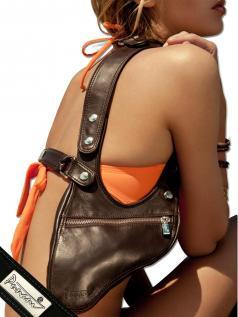 Schultertaschen - Punani Revolverbag Tasche Dunkelbraun Uni  - Onlineshop Brandlots