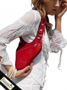 Schultertaschen - Punani Revolverbag Tasche Rot Kontrast  - Onlineshop Brandlots