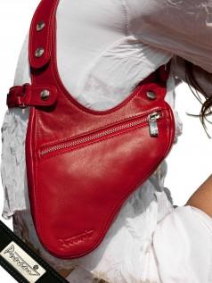 Schultertaschen - Punani Revolverbag Tasche Rot Uni  - Onlineshop Brandlots