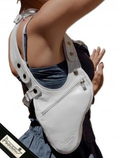 Schultertaschen - Punani Revolverbag Tasche Weiß Uni  - Onlineshop Brandlots